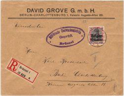 01307 TP Oc5 C.Brüssel-Bruxelles 10.10.15 Recommandé Censure Militärische Überw.Geprüft V.Berlin - Besetzungen 1914-18