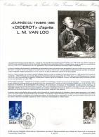 Timbre-Premier Jour-PJ -DIDEROT Encyclopédie Métier Art Libertin Critique Théâtre Peinture Musique - Ecrivains