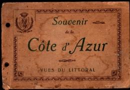 CARNET SOUVENIR De La COTE D'AZUR, Vues Du Littoral - 16 Vues Chromos Lithographiées - Non Classés