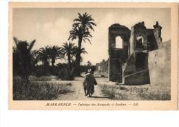 C P S M------MAROC------------- MARRAKECH-----intérieur Des Remparts Et Jardins---voir 2 Scans - Marrakech