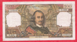 France 1 Billet Du 06/01/1972  état - 100 F 1964-1979 ''Corneille''