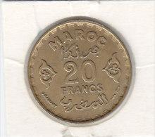 20 FRANCS Alu-bronze AH 1371 - Maroc