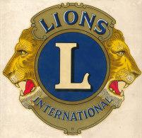 AUTOCOLLANT  LIONS  INTERNATIONAL  (dimension 17cm X 17 Cm) - Stickers