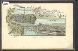 GENEVE - BRASSERIE DE ST JEAN - LITHO - ( ANGLE BAS DROIT RECOLLE ) - GE Ginevra