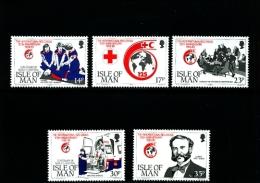 ISLE OF MAN - 1989  INTERNATIONAL  RED CROSS  SET  MINT NH - Isola Di Man