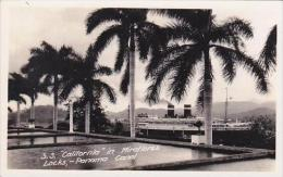 Panama Steamship California In Miraflores Locks Real Photo RPPC