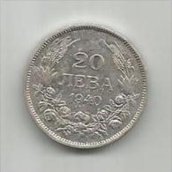 B10  Bulgaria 20 Leva 1940. - Bulgaria