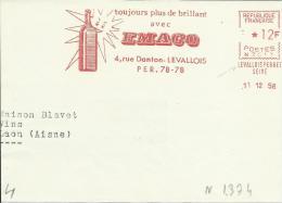 Lettre  EMA Secap N Toujours Plus Brillant Avec EMACO Soleil Verre Theme Astrologie L4/34 - Marcophilie (Lettres)