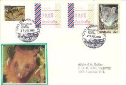 AUSTRALIE.Faune Du Territoire Du Nord (Northern-Territory) Varan Bigarré, Mountain Brushtail Possum ,timbre ATM-FRAMA - Reptiles & Batraciens