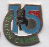 Armée Militaire  , Régiment 15e RA , Peloton Canin , Chien - Militaria