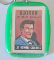 Keychain Mini BD Les Hommes Célèbres EDISON - Porte-clefs