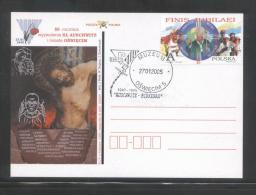 POLAND 2005 AUSCHWITZ – BIRKENAU 60TH ANNIV  LIBERATION  WW2 NAZI GERMANY DEATH CAMP SET OF 6 POPE JP 2 VISIT COMM PCS - Papi