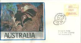 AUSTRALIE.Faune Du Territoire Du Nord (Northern-Territory) Lézard à Collerette , Timbre  ATM-FRAMA 1989 - Reptiles & Batraciens