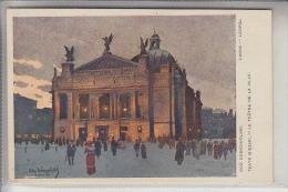 UA - 79000 LWIW / LEMBERG, Teatr Miejski, Artist-card Odo Dobrowolski - Ukraine