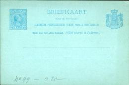 OLANDA NEDERLAND BRIEFKAART 5 C 1890 STATIONERY GANZSACHE INTERO ENTIER NEW - Postal Stationery