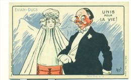 PUBLICITE /EVIAN - DUCS, Unis Pour La Vie (COULEUR) Pub Wall Paris - Publicité