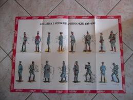 MANIFESTO CAVALLERIA E ARTIGLIERIA GERMANICHE 1914-1918  ANNI 70 - Militaria