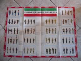 MANIFESTO UNIFORMI DELL'ESERCITO ITALIANO OGGI   ANNI 70 - Altri