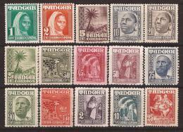 TA151-L4060TCO.Marruecos. Maroc.Marocco.TANGER  ESPAÑOL INDIGENA Y PAISAJES.1948/51. (Ed 151/65**) Sin Charnela.MAGNIFIC - Culturas
