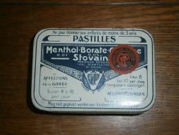 Boîte Métallique Menthol Borate Cocaïne Stovaïne - A.Salmon Melun - Coopération Pharmaceutique Française (cooper) - Boîtes/Coffrets