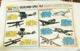 USA AIRCRAFT WW I (THOMAS MORSE MB 3A ,DE HAVILLAND D.H.4, MARTIN MB-2), WW II  B-25J B-29, P-31, P-47& MODERN PLANES - Aviation Commerciale