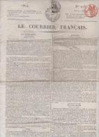 LE COURRIER FRANCAIS 2 08 1824 - ARGENTINE PEROU - TURQUIE - SUISSE BERNE - ELECTEURS PARIS - ROME - POSTES - THEATRES - Zeitungen