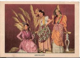 CP Antilles Loterie Nationale Costumes Guadeloupe Guyanne Martinique Amérique - Non Classificati