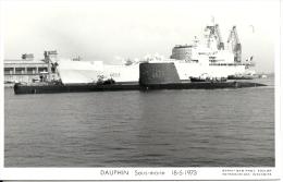 DAUPHIN S633 Sous-marin Photo Marius Bar TBE 18-5-1973 - Submarinos