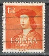 Sello  1,50 Pts Fernando Catolico 1952, Num 1109 º - 1931-Today: 2nd Rep - ... Juan Carlos I