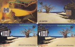 4 Télécartes MADAGASCAR Lot 1 (bon état) - Madagaskar