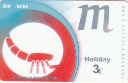 GREECE - Zodiac/Scorpio, Amimex Prepaid Card 3 Euro, Tirage 500, 04/04, Used - Zodiaco