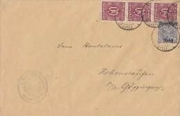 DR Brief Mif Minr.D60x, 3x D66a Geprüft - Dienstpost