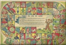 JEU DE LUNE (de  L'OIE)  - PUBLICITE POUR LE VERMIFUGE LUNE -  VER SOLITAIRE -  OXYURES - Jeux De Société