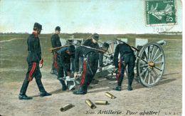 N°34636 -cpa Artillerie -pour Abattre- - Reggimenti