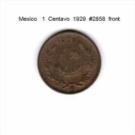 MEXICO    1  CENTAVO  1929  (KM # 415) - Mexico