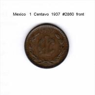 MEXICO    1  CENTAVO  1937  (KM # 415) - Mexico