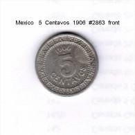 MEXICO    5  CENTAVOS  1906  (KM # 421) - Mexico