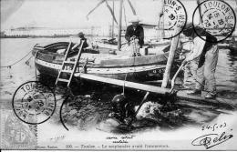 83 TOULON   SCAPHANDRIER AVANT L IMMERSION    GROS PLAN    1903 - Toulon