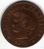FRANCE - 1 CENTIME - Cères - 1872 A - Troisième République - - France