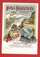 YDiFurk-25 Repro Hotel Belvédère, Hotel Seiler Glacier Du Rhône Pferdepost Poste Diligence, Kütsche. Nicht Gelaufen - VS Valais