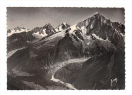Chamonix Mont Blanc: L' Aiguille Verte Et La Mer De Glace (13-3576) - Chamonix-Mont-Blanc