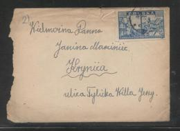 POLAND 1946 3ZL REBUILDING OF WARSAW LETTER STRYZOW (WISLOK) TO KRYNICA - 1919-1939 Republic