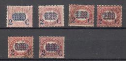 Regno D´Italia - Servizio Soprastampati - 1878 - (usati) Sass. 30, 31, 33,34, 35, 36 - 1861-78 Vittorio Emanuele II