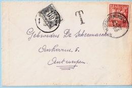 N°762 Op Brief, Afst. DENDERMONDE 17/12/1948 + Takszegel N°42 - 1948 Export