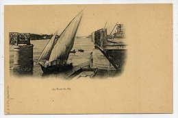 Egypte--LE;CAIRE--Le Pont Du Nil (bateau à Voile)  Carte Précurseur  éd L,J & Cie---Belle Carte Précurseur - Le Caire