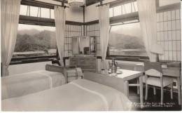 Lake Kawaguchi, Honshu, Japan, Fuji View Hotel, Bedroom Interior, Decor, C1950s Vintage Photgraph - Places