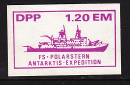 ANTARTICA: FS POLARSTERN ANTARKTIS EXPEDITON DPP 1.20EM, Purple On White, Unused - Zonder Classificatie