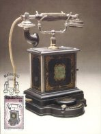 (111) Maximum Postcard - Maxicard - Antique Telephone - Histoire