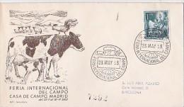 Spain 1953 International Fair  Del Campo Souvenir Cover - FDC