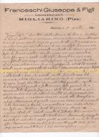 ^ MIGLIARINO PISANO VECCHIANO PISA FRANCESCHI CARTA INTESTATA LETTERA FASCISMO DOCUMENTO 33 - Historische Documenten